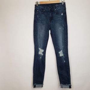 Fidelity gwen high rise distressed skinny jeans
